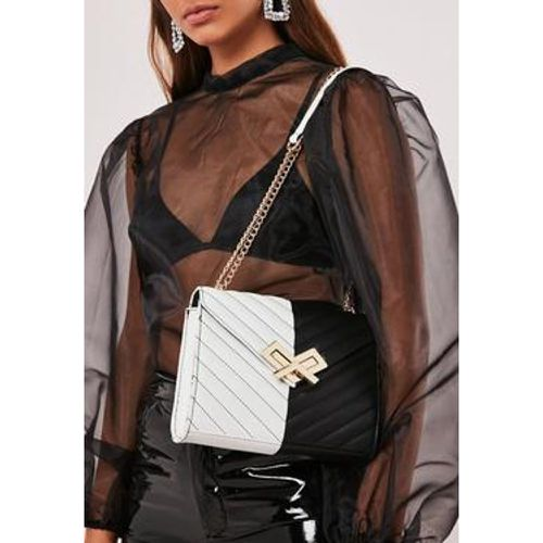 Sac à main monochrome en simili cuir, - Missguided - modalova