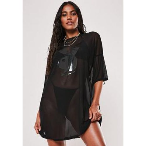 Robe t-shirt en tulle Playboy x - Missguided - Shopsquare