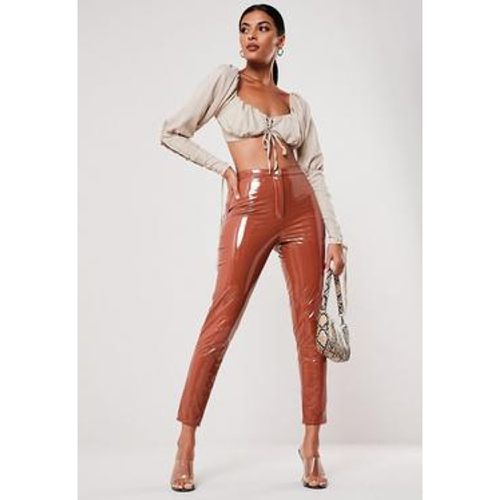 Pantalon cigarette en simili cuir - Missguided - Shopsquare