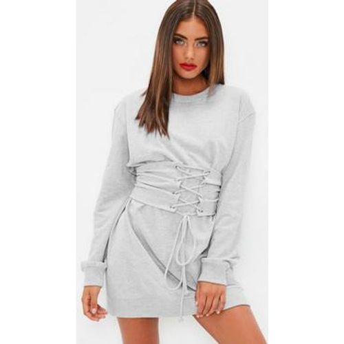 Robe-sweat grise style corset, Gris - Missguided - Shopsquare