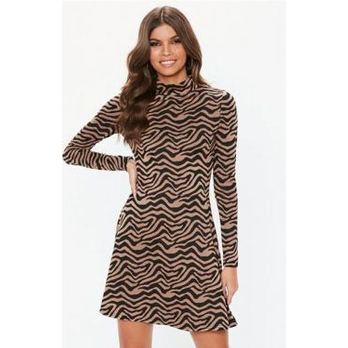 Robe pull marron à  imprimé animal - Missguided - Shopsquare