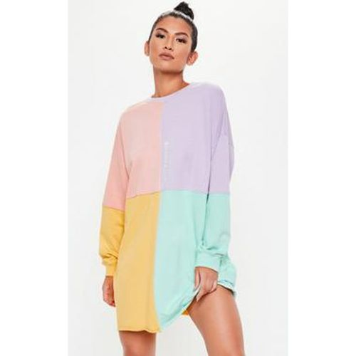 Robe-sweat oversize rose pastel colorblock, - Missguided - Shopsquare