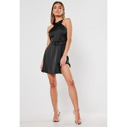 Robe patineuse noire en satin - Missguided - Shopsquare