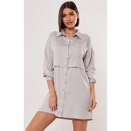 Robe chemise grise - Missguided - Shopsquare