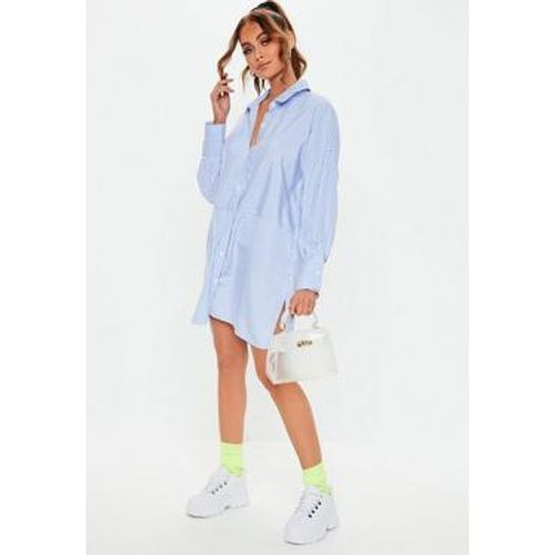 Robe chemise oversize bleue - Missguided - Shopsquare