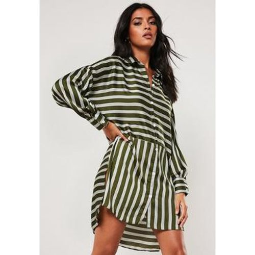 Robe chemise oversize rayée à  dos plongeant, - Missguided - Shopsquare