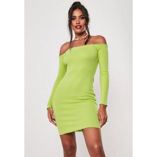 Robe courte col bateau jaune fluo, - Missguided - Shopsquare