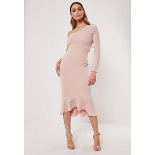 Robe mi-longue queue de pie vieux rose à une manche, - Missguided - Shopsquare