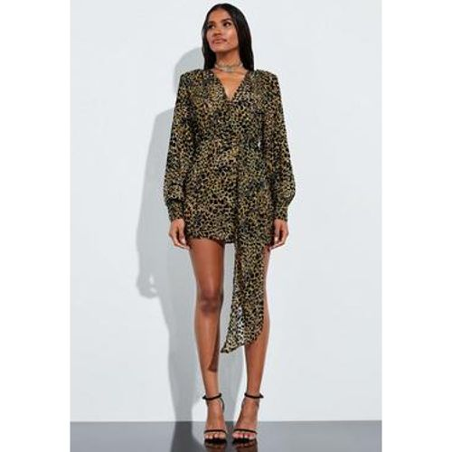 Robe en velours à imprimé animal Peace + Love, - Missguided - Shopsquare