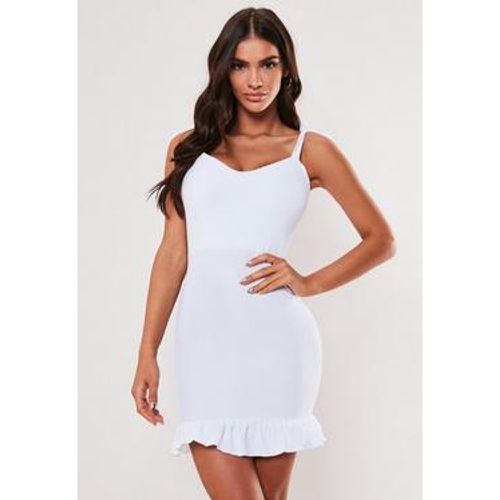 Robe courte blanche col V, Blanc - Missguided - Shopsquare
