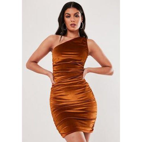Robe courte en velours à une bretelle, - Missguided - Modalova