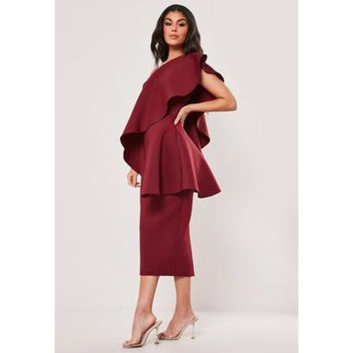 Robe mi-longue une bretelle à volants, - Missguided - modalova