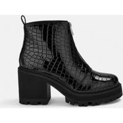 Bottines croco vernies à talons - Missguided - Shopsquare