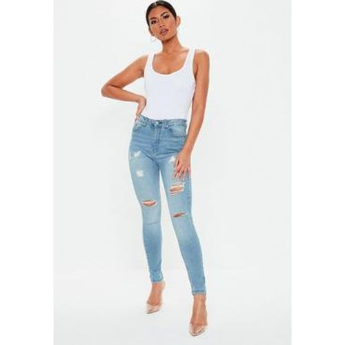 Jean skinny taille haute destroy - Missguided - Shopsquare