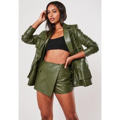 Jupe short en simili cuir Utility - Missguided - Shopsquare