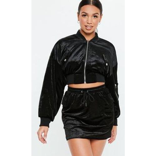 Veste bomber courte en velours , - Missguided - Shopsquare