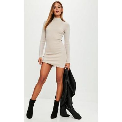 Sable Robe-pull beige col montant - Missguided - Shopsquare