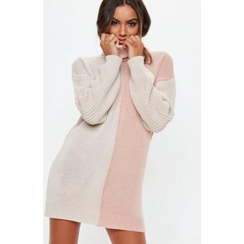 Robe-pull colorblock col roulé - Missguided - Shopsquare