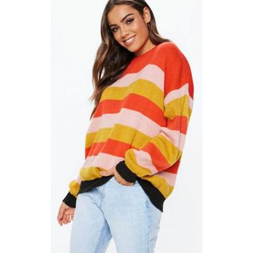 Pull ample rayé rouge colorblock - Missguided - Shopsquare