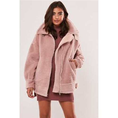 Veste aviateur oversize avec imitation fourrure - Missguided - Shopsquare