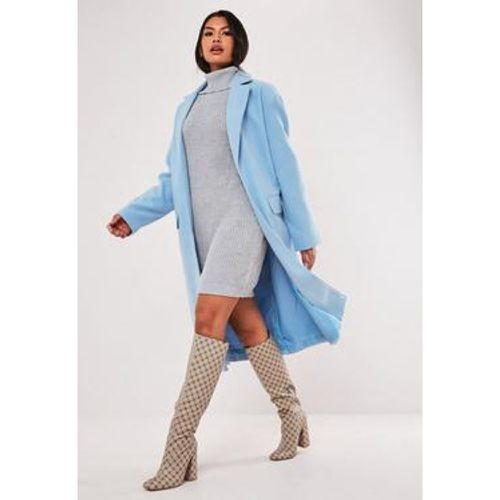 Manteau bleu formel long, - Missguided - Shopsquare
