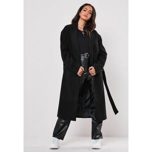 Manteau noir formel long, Noir - Missguided - Shopsquare