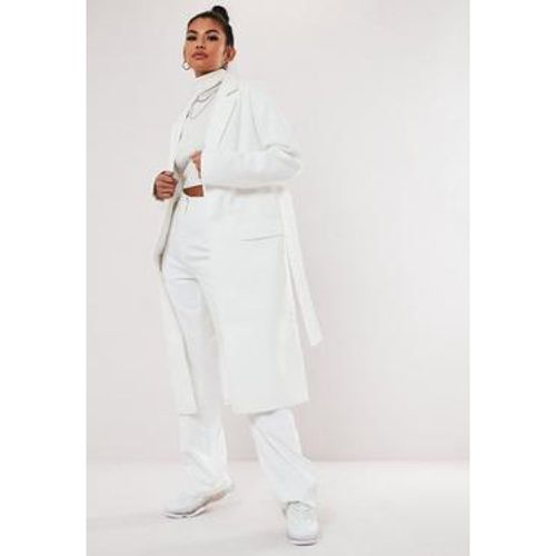 Manteau blanc formel long, Blanc - Missguided - Shopsquare