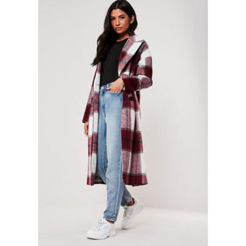 Manteau cocon oversize à  carreaux, - Missguided - modalova