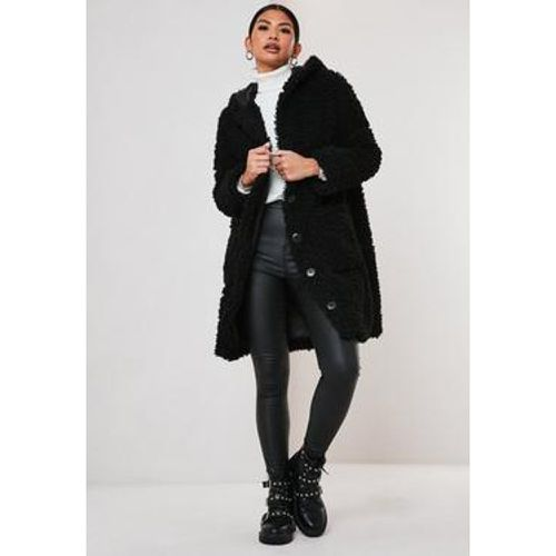 Manteau à capuche en teddy, - Missguided - Shopsquare