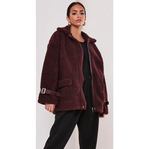 Veste aviateur en teddy , - Missguided - Modalova