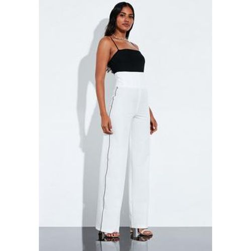 Pantalon large blanc taille haute Peace + Love - Missguided - Shopsquare