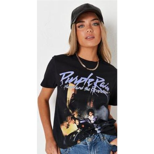 T-shirt noir imprimé Purple Rain - Missguided - Shopsquare