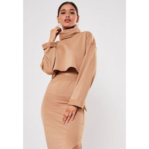 Sable Crop Top camel col roulé - Missguided - Shopsquare