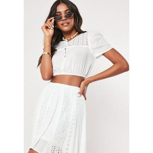 Crop Top en dentelle style crochet, - Missguided - Shopsquare