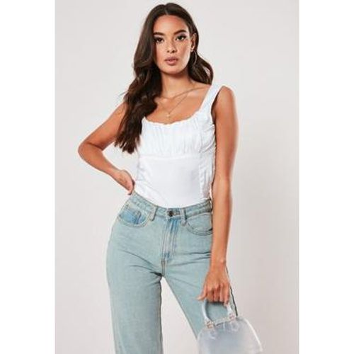 Top corset froncé en satin Of Corset Not Cream, - Missguided - modalova