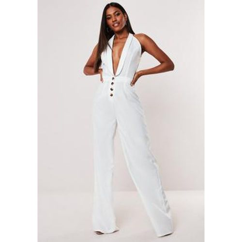 Combinaison large blanche boutonnée style smoking Tall, - Missguided - Shopsquare