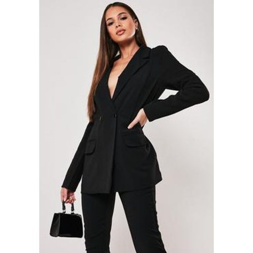 Long blazer noir Tall - Missguided - Shopsquare