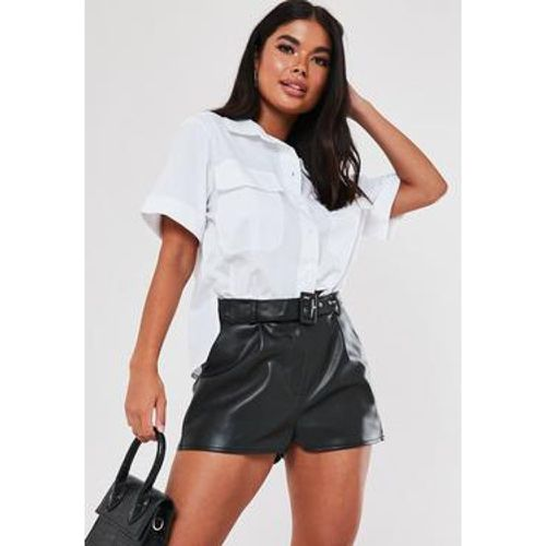 Short ceinturé en simili cuir Tall - Missguided - Shopsquare