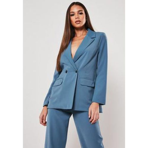 Long blazer bleu Petite - Missguided - Shopsquare