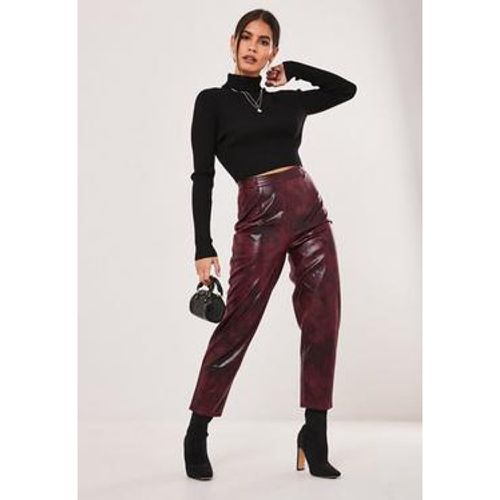 Pantalon en simili cuir Petite - Missguided - Shopsquare