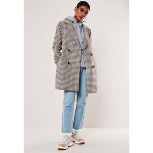 Manteau trench gris à carreaux Petite, - Missguided - modalova