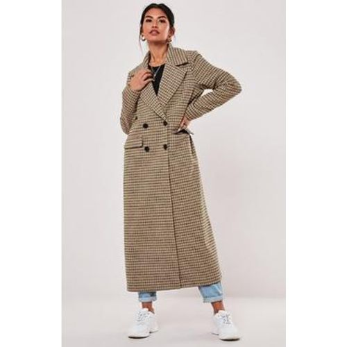 Manteau formel marron à carreaux oversize Petite, - Missguided - modalova