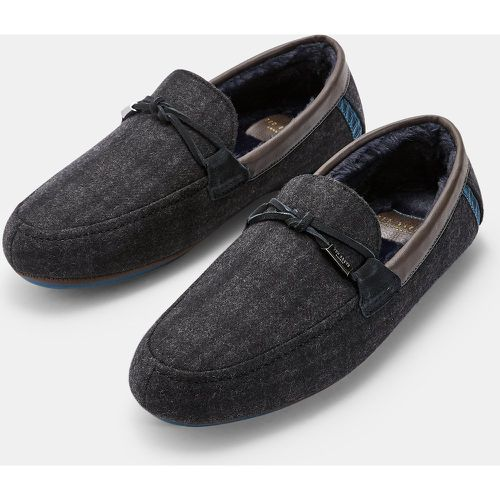 Checked Moccassin Slippers - Ted Baker - Modalova