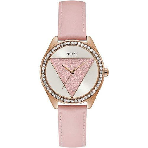 Montre Cuir Triangle - Guess - Modalova
