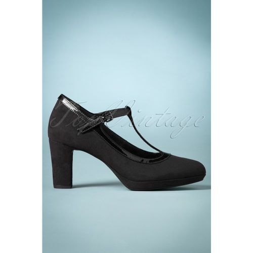 S Jacky Suedine T-Strap Pumps in Black - tamaris - Shopsquare
