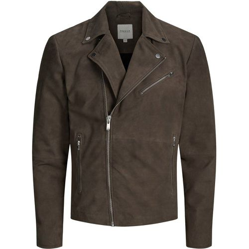 Classique Veste En Cuir Men grey - jack & jones - modalova