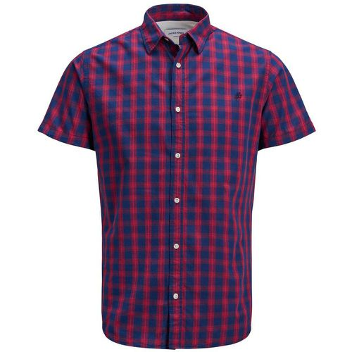 Carreaux Chemise À Manches Courtes Men red - jack & jones - modalova