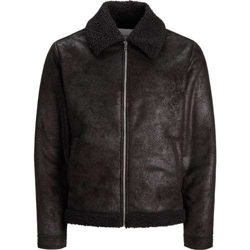 Aviateur Simili Veste Légère Men black - jack & jones - modalova