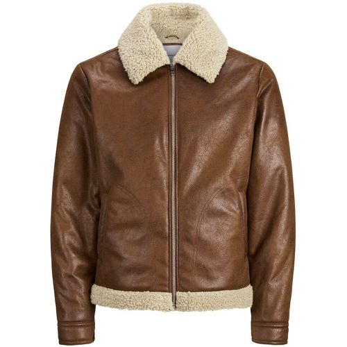 Aviateur Simili Veste Légère Men brown - jack & jones - modalova