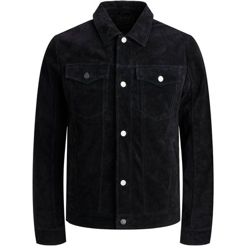 Chriss Trucker Veste En Cuir Men black - jack & jones - modalova